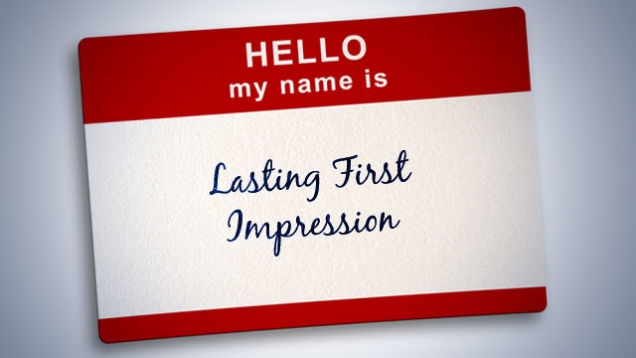 first impression name tag
